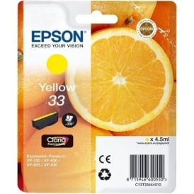 XP530/630/635/830 33 Claria Oranges Premium Photo Ink Cartridge, Yellow