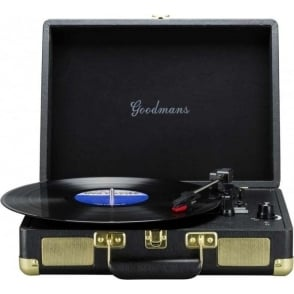 2 Watt Record Turntable with USB, Black