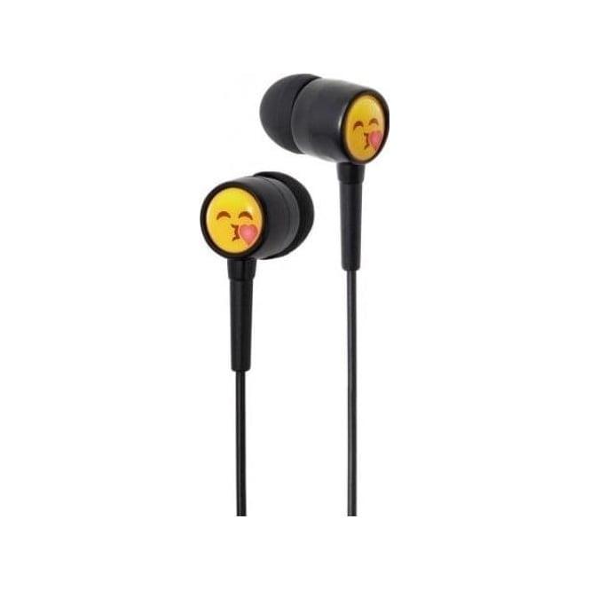 Groove EarMojis Stereo Earphones Kissing Face Novelty In-Ear Buds