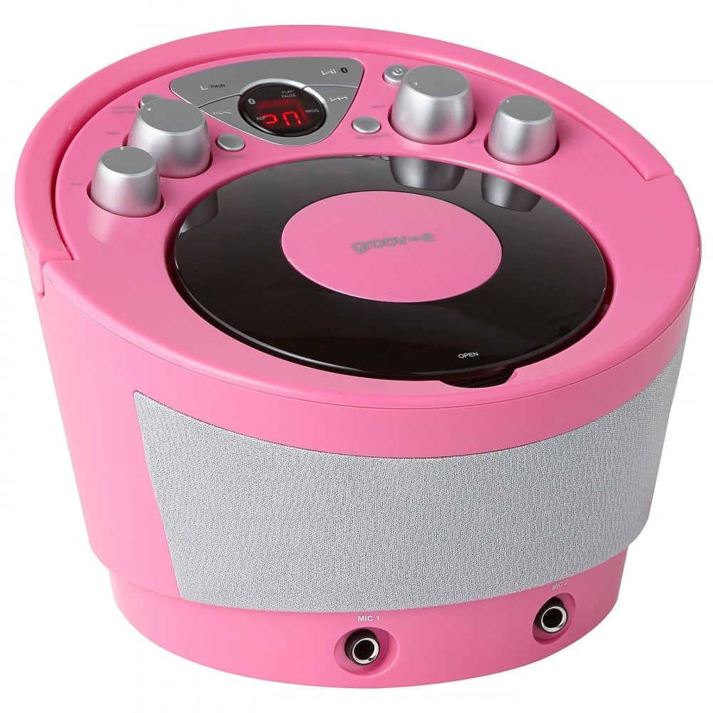 groove portable karaoke boombox machine with cd player and. Black Bedroom Furniture Sets. Home Design Ideas