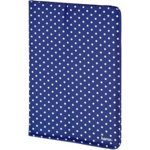 "10"" Tablet Case, Blue & White Polka Dot"