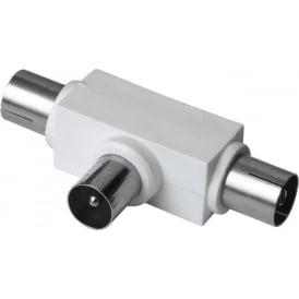 Antenna Splitter, Coax Plug - 2 Coax Sockets
