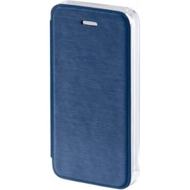 """Clear"" Booklet Case for Apple iPhone 5/5s/SE, Dark Blue"