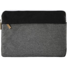 """Florence"" Notebook Sleeve, up to 34 cm (13.3""), Black/Grey"