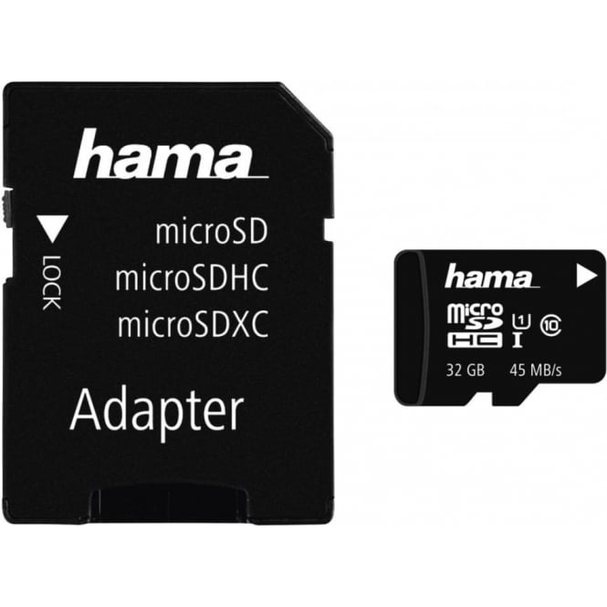 Hama microSDHC 32GB Class 10 UHS-I 45MB/s + Adapter/Photo