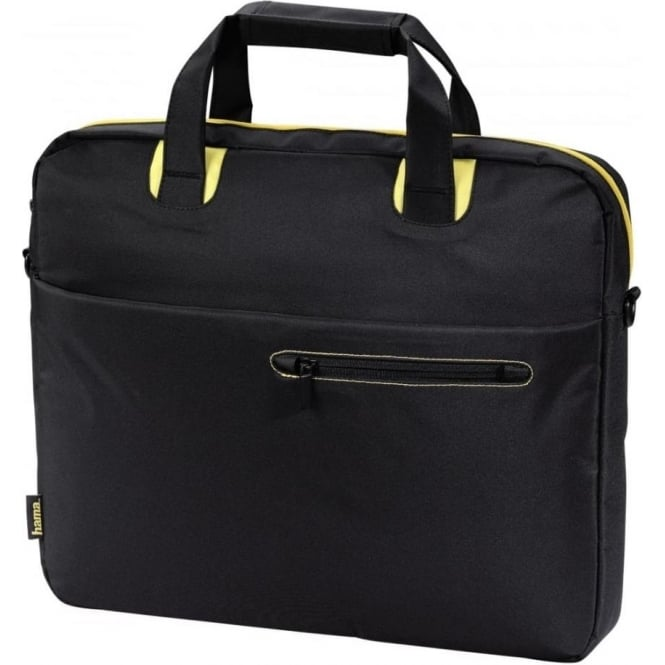 "Hama ""San Francisco Public"" Notebook Bag, up to 15.6"", Black/Yellow"