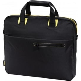 """San Francisco Public"" Notebook Bag, up to 15.6"", Black/Yellow"