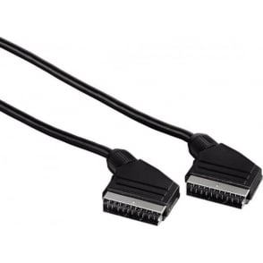 Scart Connecting Cable, Plug - Plug, 1.5 m, Black