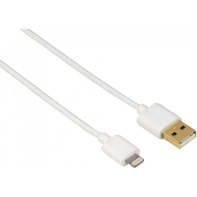 Hama USB Cable for Apple iPhone 5/5s/5c/6/6 Plus/6s/6s Plus, MFI, White