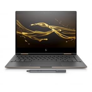 "Spectre x360 13ae005na 13.3"" Intel Core i7, 8GB RAM, 512GB SSD, Intel UHD Graphics 620, Win10 Home, Convertible Laptop, Dark Ash Silver"