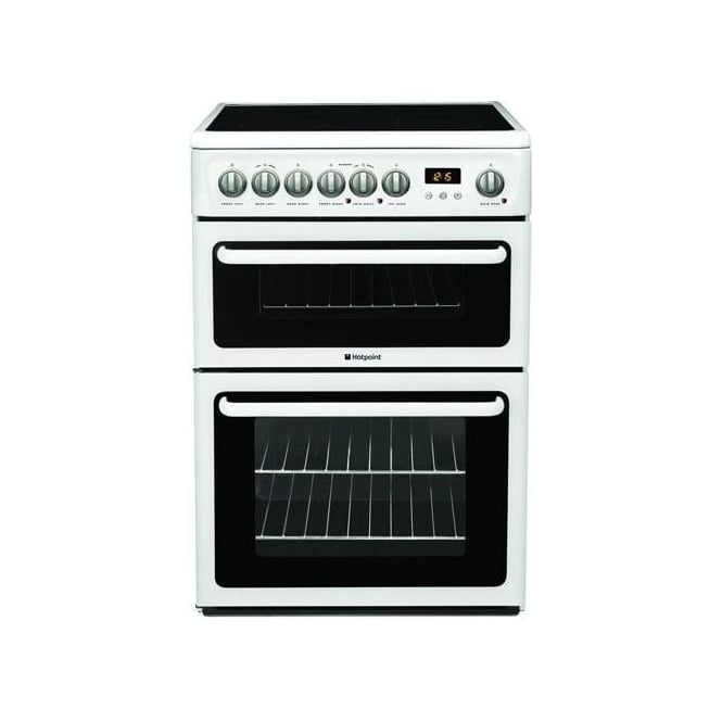 Hotpoint 60HEP 60cm Electric Cooker with Double Oven Ceramic Hob
