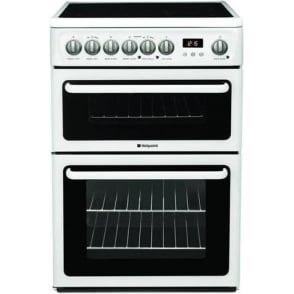 60HEP 60cm Electric Cooker with Double Oven Ceramic Hob