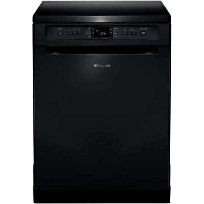 Hotpoint Ecotech FDFET 33121 K 60cm Dishwasher, Black