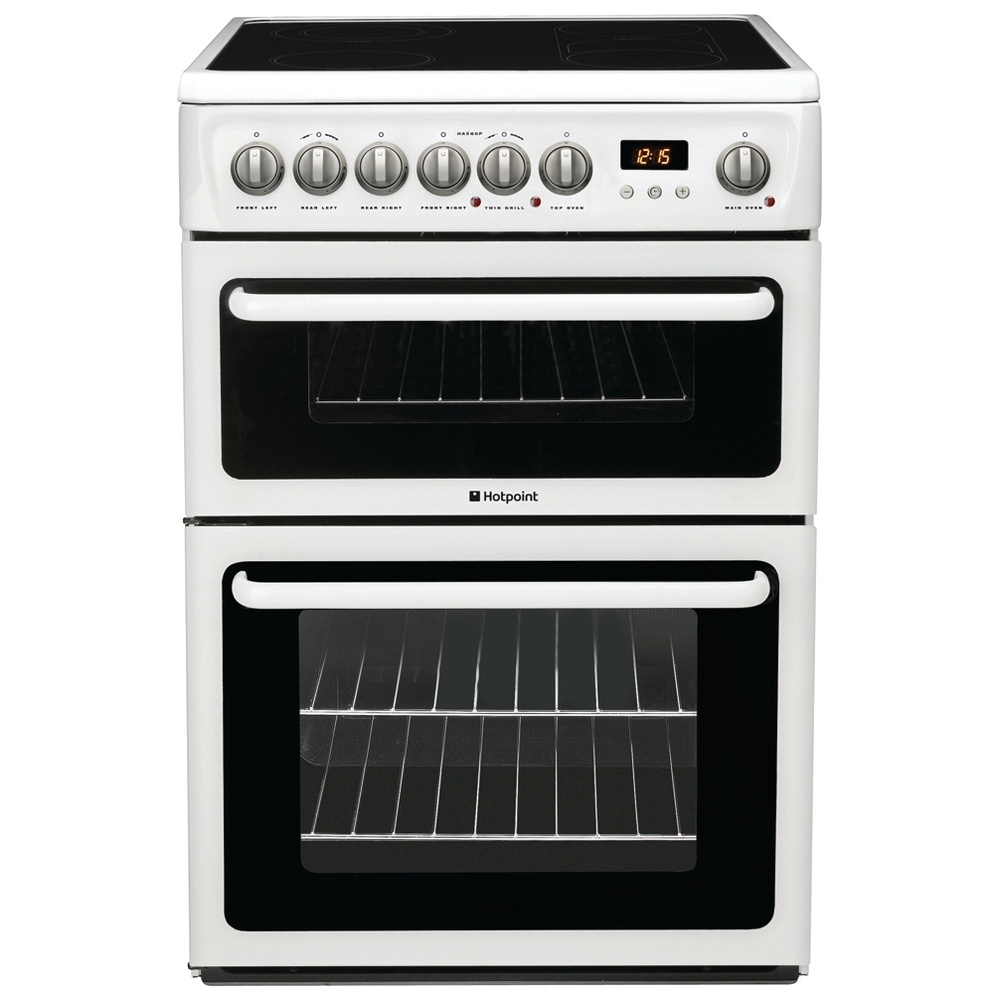 hotpoint hae60p freestanding 60cm electric cooker with. Black Bedroom Furniture Sets. Home Design Ideas