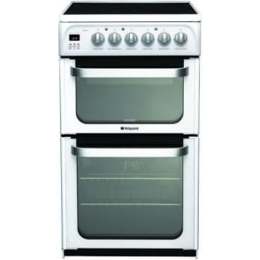 HUE52P Freestanding 50cm Electric Cooker with Double Oven and Ceramic Hob