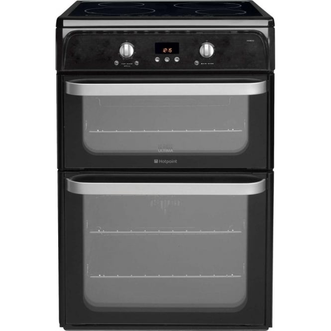 Hotpoint HUI612K Ultima Electric Cooker with Induction hob and Double Oven, Black