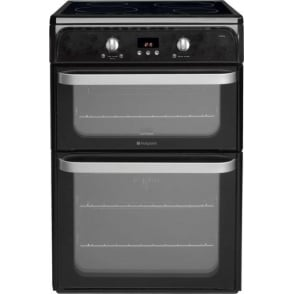 HUI612K Ultima Electric Cooker with Induction hob and Double Oven, Black