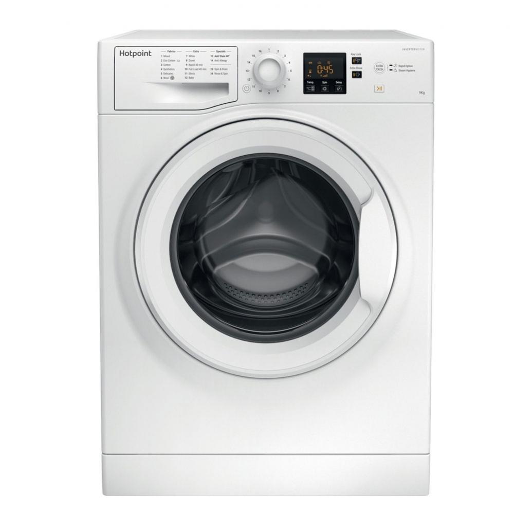 HOTPOINT NSWM963CW 9kg 1600rpm Freestanding Washing Machine White