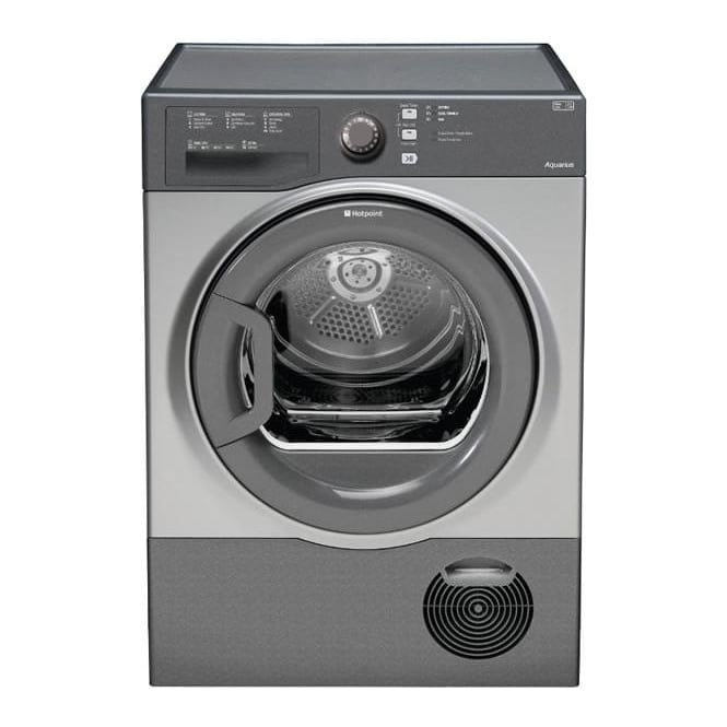 Hotpoint TCFS83BGG AQUARIUS 8kg Load Condenser Tumble Dryer Class B Graphite