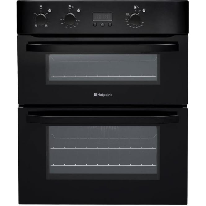 Hotpoint UHB83JK Electric Built Under Double Oven, Black