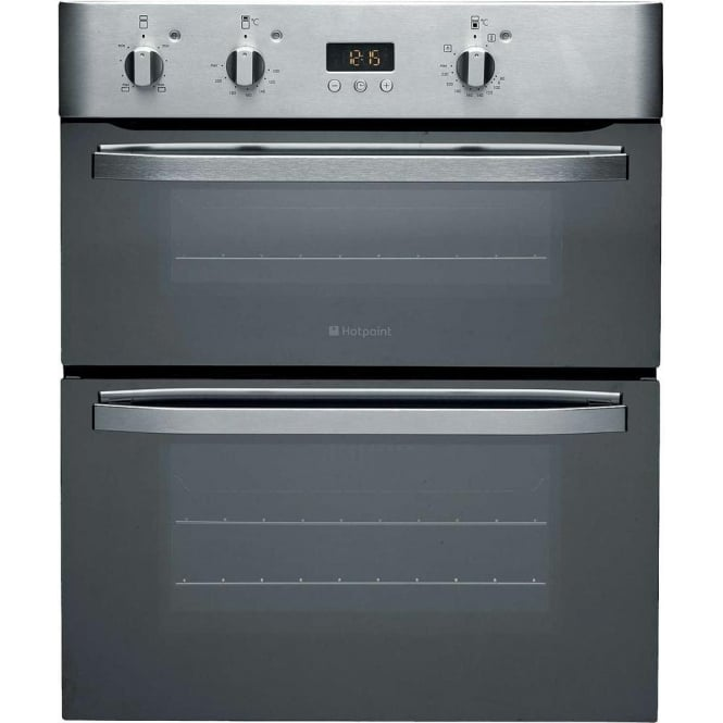 Hotpoint UHS53XS Electric Built Under Double Oven, Stainless Steel