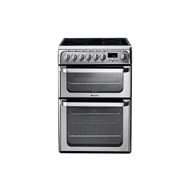Hotpoint Ultima HUI611X Electric Cooker, Stainless Steel