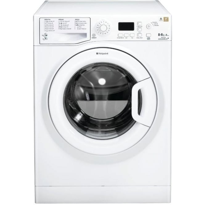 Hotpoint WDPG8640PUK Aquarius Washer Dryer, 8kg Wash, 6 KG Dry Load, White