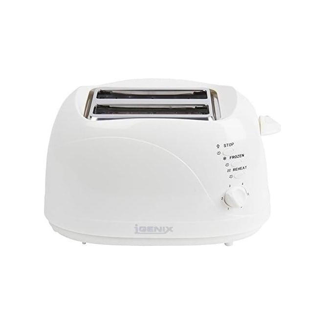 Igenix 2 Slice Toaster, White