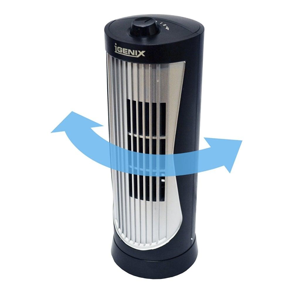 Igenix DF0020 Oscillating Mini Tower Fan, 12 inch, Black ...