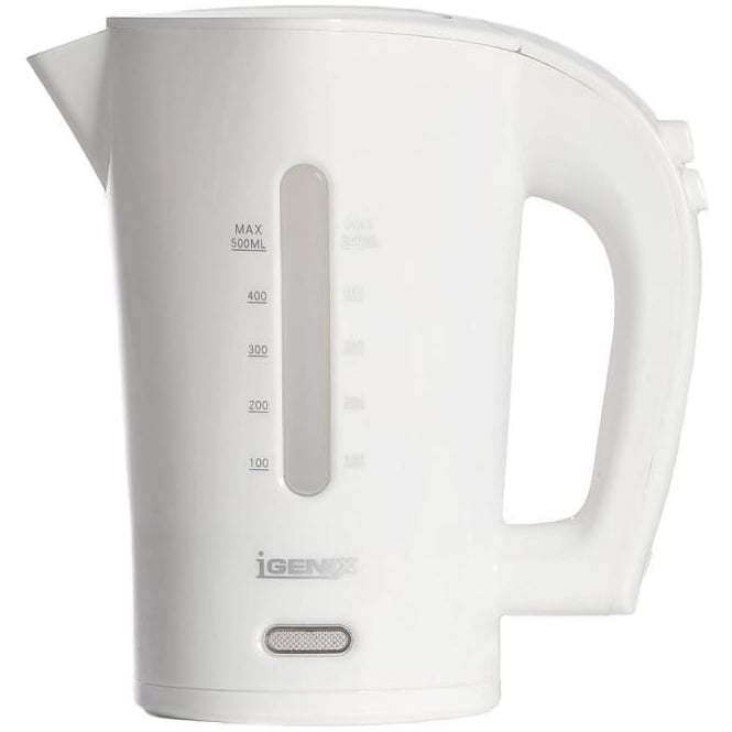 Igenix Dual Voltage Travel Kettle, White