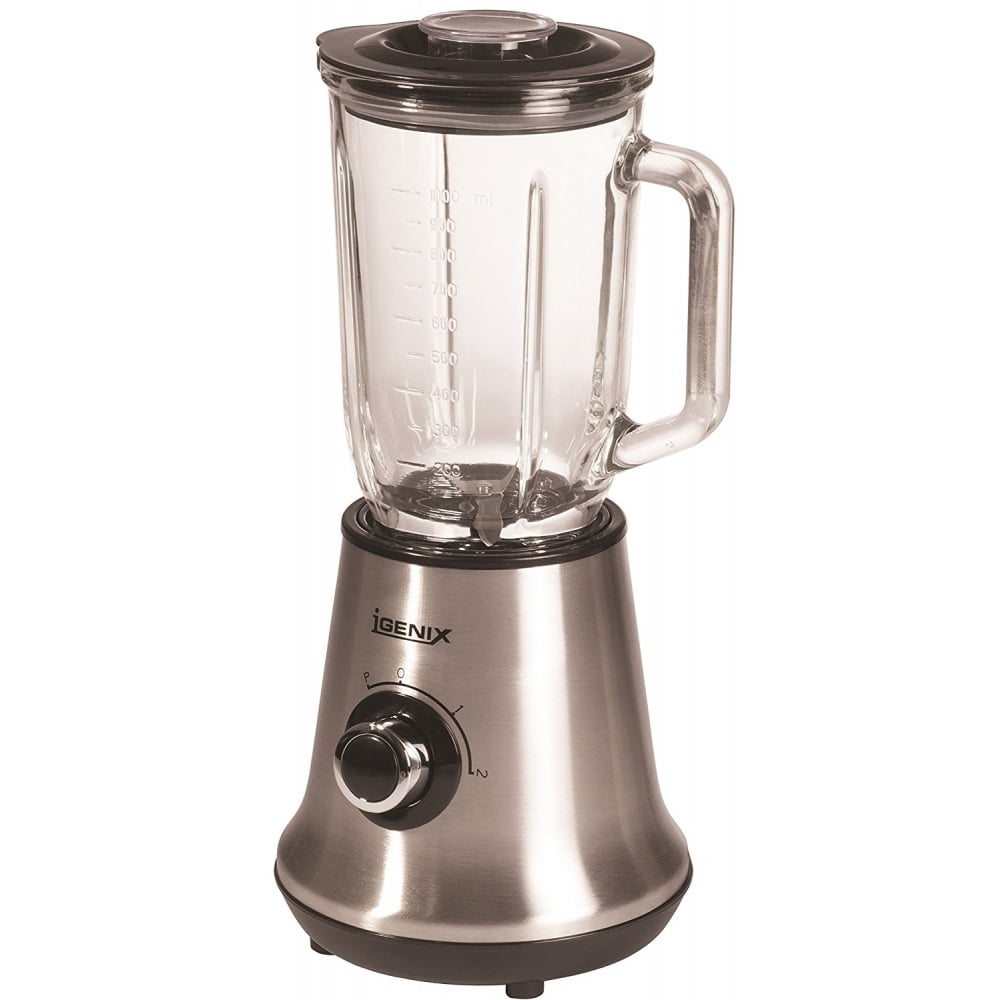 Stainless Steel Blender ~ Igenix ig glass jug blender stainless steel