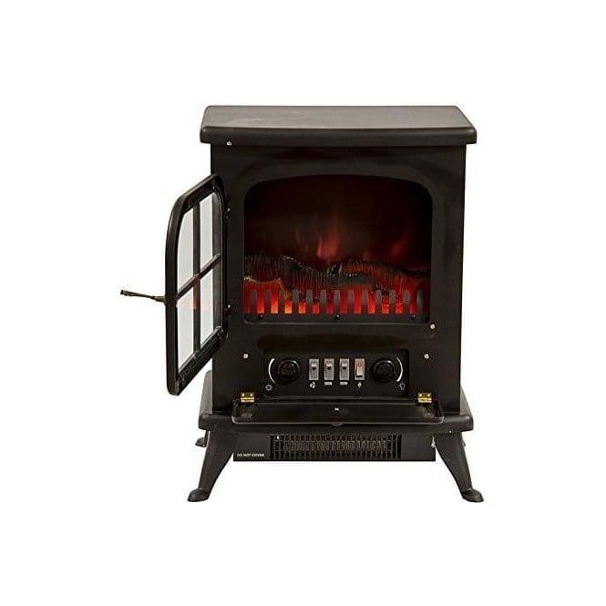 Igenix IG9430 Oakmen Flame Effect Stove 950W, Black