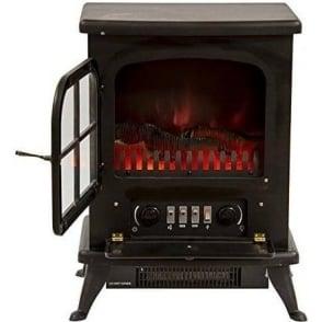 IG9430 Oakmen Flame Effect Stove 950W, Black