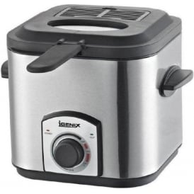Igenix Mini 1.2 Litre Fryer, Brushed Stainless Steel