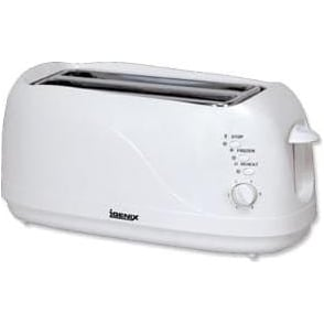 Long Slot 4 Slice Toaster, White