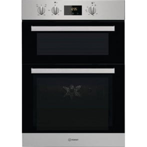 Aria IDD6340IX Built In Double Oven, Stainless Steel