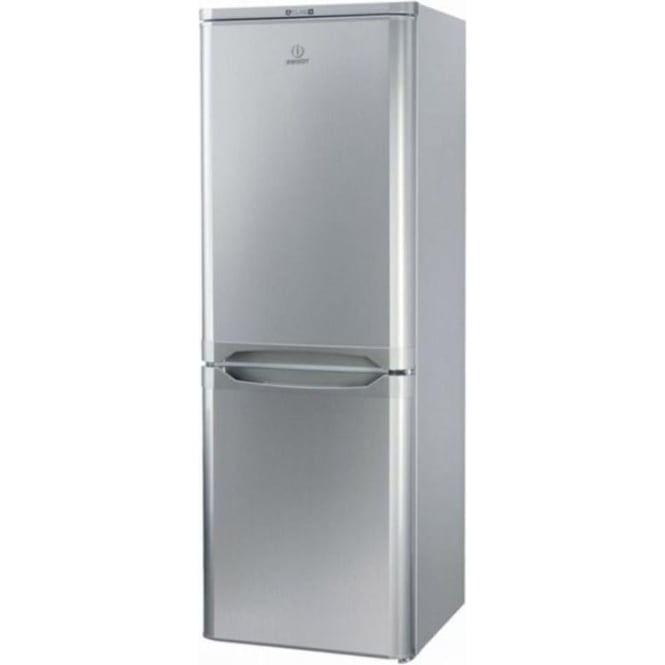 Indesit NCAA55S Fridge Freezer A+, Silver