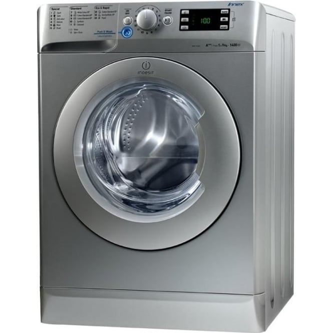 Indesit XWE 91483XSUK 9kg, 1400 spin Washing Machine, Silver