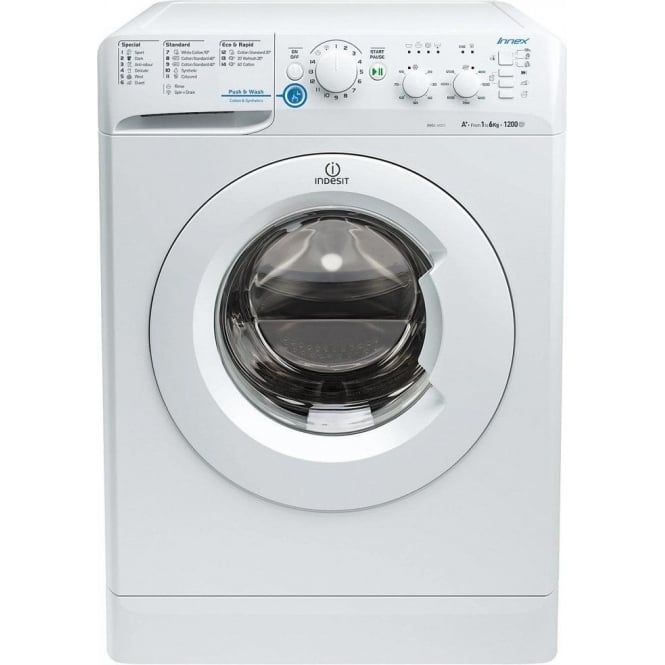 Indesit XWSC61251W Freestanding Washing Machine 6kg, A+, 1200rpm Spin, White