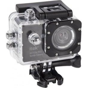 I67002 1080p Action Camera, Waterproof Design, Black