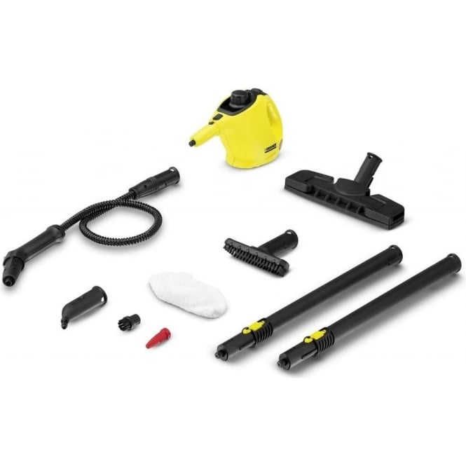 Karcher SC1 Premium Steam Cleaner with Floor Kit, 1200 Watt, 3 Bar