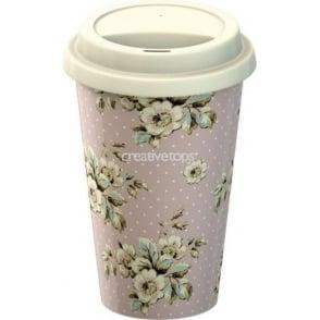 Cottage Flower Double Walled Travel Mug