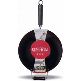 Performance Non Stick Carbon Steel Wok, 32cm
