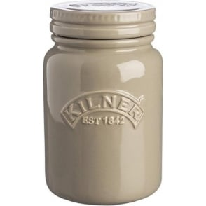 Kilner Ceramic Storage Jar, Pebble Grey