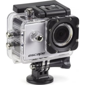 Escape HD5 720p Waterproof Action Camera with Mounting Accessories