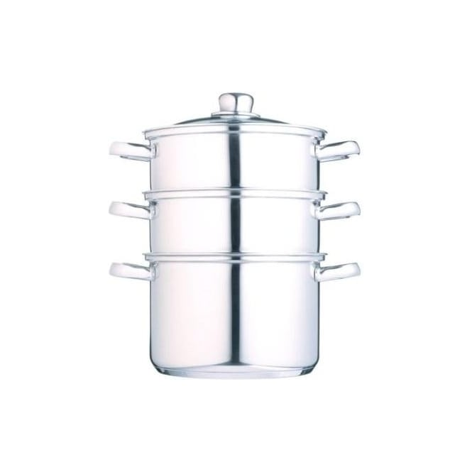 Kitchen Craft 18 cm Clearview Stainless Steel 3-tier Steamer