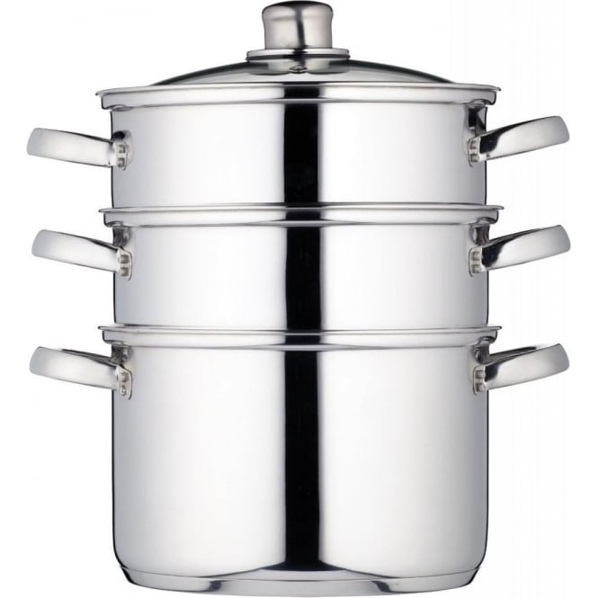 Kitchen Craft 22 cm Clearview Stainless Steel 3-Tier Steamer