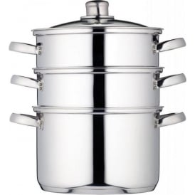22 cm Clearview Stainless Steel 3-Tier Steamer