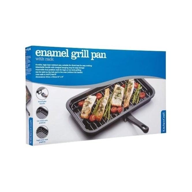 Kitchen Craft 40 x 23 cm Enamel Grill Pan