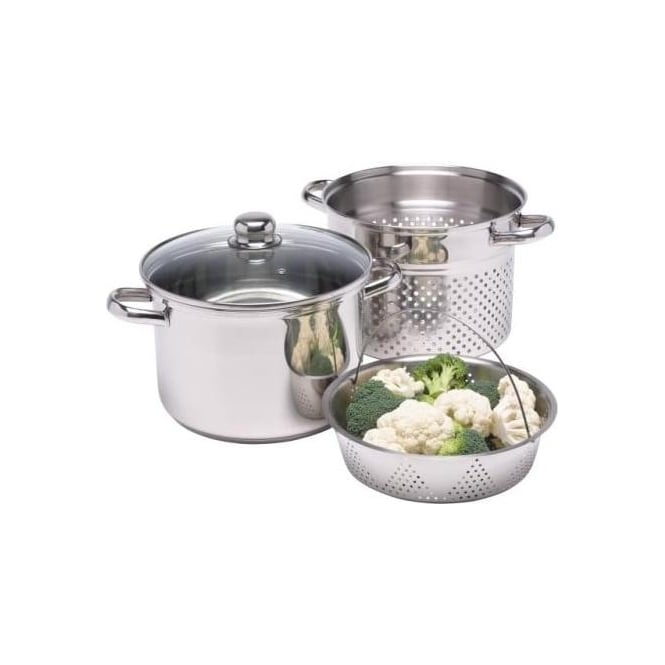 Kitchen Craft 7.5 L Clearview Stainless Steel Multi Cooker